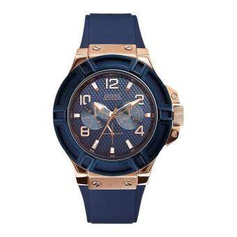 Guess Men's Watch Blue Rubber Strap W0247G3