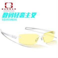 ราคา Gunnar Edge Optiks Eyewear Anti Blue Light Game Goggles Anti Fatigue Radiation Glasses Suitable For Men And Women Models White Intl ใหม่ ถูก
