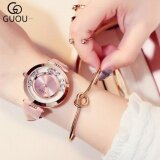 โปรโมชั่น Guou Luxury Glitter Rhinestone Leather Band Women Watch Pink Intl จีน