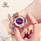 ราคา Guou นาฬิกาผู้หญิงหรูหราพลอยเทียมนาฬิกาข้อมือกุหลาบผู้หญิงนาฬิกานาฬิกาเหล็กเต็มรูปแบบ ใหม่