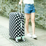 ขาย H Anyu Stretchable Elastic Travel Luggage Suitcase Protective Cover Black White Dots S Size Intl ถูก