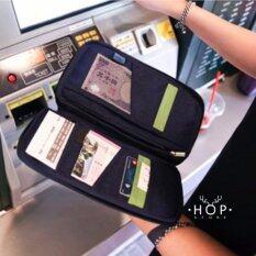ราคา Hop กระเป๋าคล้องมือใส่พาสปอร์ต Navy ถูก