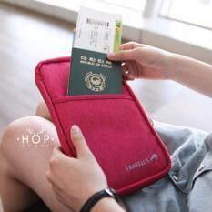 ขาย Hop กระเป๋าคล้องมือใส่พาสปอร์ต Red ใหม่