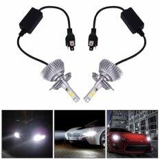ซื้อ H4 60W 6000Lm 6000K Car External Lights Led Light Headlight Vehicle Car Intl ออนไลน์