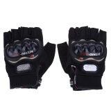 ส่วนลด ถุงมือแบบสวมครึ่งนิ้ว สำหรับการขี่จักรยานยนต์ กีฬากลางแจ้ง อุปกรณ์ป้องกันการขับขี่ ไซส์ L สีดำ Unbranded Generic จีน