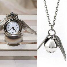 ทบทวน Harry Potter Snitch Watch Necklaces Steampunk Quidditch Pocket Pendant Silver Intl Unbranded Generic