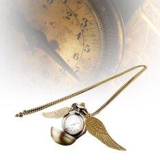 ขาย Harry Potter Snitch Watches Necklaces Steampunk Quidditch Pocketpendant Gold Intl ออนไลน์ ใน จีน