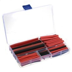 Hazyasm ความร้อนท่อหดความร้อนท่อหดตัว (สีดำ + แดง) 150 ชิ้นพร้อม, 8 ขนาด - Intl.