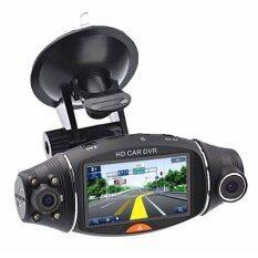 HD DVR กล้องติดรถยนต์ 2 เลนส์ รุ่น DVR GP400 สีดำ