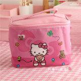 โปรโมชั่น Hello Kitty แต่งหน้ากล่องเกาหลีกระเป๋าเครื่องสำอางความจุขนาดใหญ่ ถูก