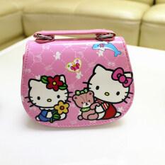 Hellokitty กระเป๋าสะพายน่ารัก Messenger สาวแบบพกพา.