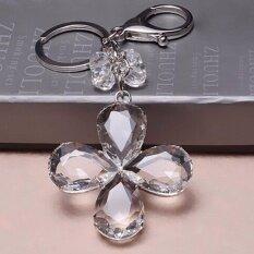 ราคา Hequ Four Leaf Clover พวงกุญแจคริสตัลพวงกุญแจผู้หญิง กระเป๋าจี้ Hequ ออนไลน์