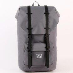 ความคิดเห็น Herschel Little America Backpack Grey Black Rubber