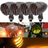ขาย Hetu 4Pcs Black Retro Motorcycle Bulb Turn Signals Blinkers Lights Indicators Intl ถูก
