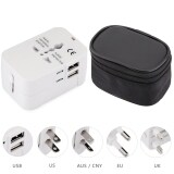 ทบทวน Hht202 Multifunctional Travel Adapter International Plug Dual Usb Charging Port Universal Ac Socket Drop Protection Bag Unbranded Generic
