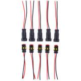 ขาย High Quality 2 Pin Way Car Waterproof Electrical Connector Plug With Wire Awg Marine Set Of 5 Intl Unbranded Generic เป็นต้นฉบับ