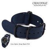 ราคา สายนาฬิกา High Quality Zulu Nylon Strap Black Pvd ขนาด 22 Mm สำหรับ Rolex Omega Seiko ราคาถูกที่สุด