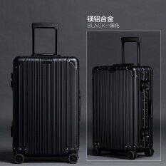 ส่วนลด Hipoloกระเป๋าเดินทางขนาด 24 นิ้ว โครงอะลูมิเนียม อลูมิเนียม วัสดุ Abs Pc Black Hipolo ใน Thailand