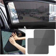 Hiso Car แพ็คคู๋ ม่านบังแดดแบบติดกระจก ฟิล์มบังแดดกระจกประตูรถ ฟิล์มกรองแสงรถยนต์ ฟิล์มบังแดดระบบสูญญากาศ ฟิล์มบังแดดแบบติดกระจก การป้องกันรังสียูวีที่บังแดดในรถยนต์ ด้านข้าง 38ซม X 42ซม ปกป้องแสงแดดได้ถึง 97 2ชิ้น ชุด Hiso Car ถูก ใน กรุงเทพมหานคร