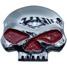 ซื้อ Hiso Car Vip โลโก้ สติ๊กเกอร์โลหะ Harley Davidson โลโก้ฮาร์เล่ กระโหลก สี เงินตัดแดง ออนไลน์ ถูก