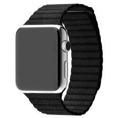 ขาย หนังแท้เข็มขัดรัดสายนาฬิกาคล้องแม่เหล็กสำหรับ Apple Watch 42มมบา