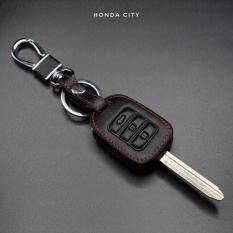 ซื้อ ซองหนังแท้ ใส่กุญแจรีโมทรถยนต์ Honda City Honda ถูก