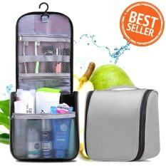 ราคา Hot Item Waterproof Cosmetic Travel Bag กระเป๋าใส่อุปกรณ์อาบน้ำ เครื่องสำอาง กันน้ำได้ Silver Series ใหม่