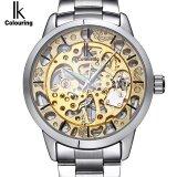 ซื้อ Ik Hollow Golden Watch นาฬิกาข้อมือ Es Men Skeleton Mechanical Watch นาฬิกาข้อมือ Stainless Steel Top Brands Luxury Man Watch นาฬิกาข้อมือ Montre Homme Wristwatch นาฬิกาข้อมือ 4174 ใน จีน