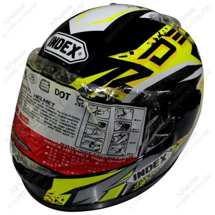 รีวิว INDEX หมวกันน๊อค 811-D5 หน้ากากใส สีดำลาย size-L