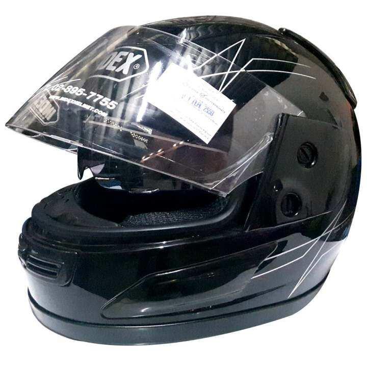 แนะนำ INDEX หมวกกันน๊อค 811 i-Shield หน้ากากสองชั้น สีดำ