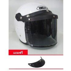 ขาย หมวกกันน็อควินเทจ Index รุ่น C200 สีขาว Index เป็นต้นฉบับ