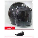ราคา หมวกกันน็อควินเทจ Index รุ่น C200 สีดำ ใหม่ ถูก