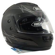 ซื้อ Index หมวกกันน๊อคเต็มใบ รุ่น 811 I Shield หน้ากาก 2 ชั้น สีดำด้าน Index