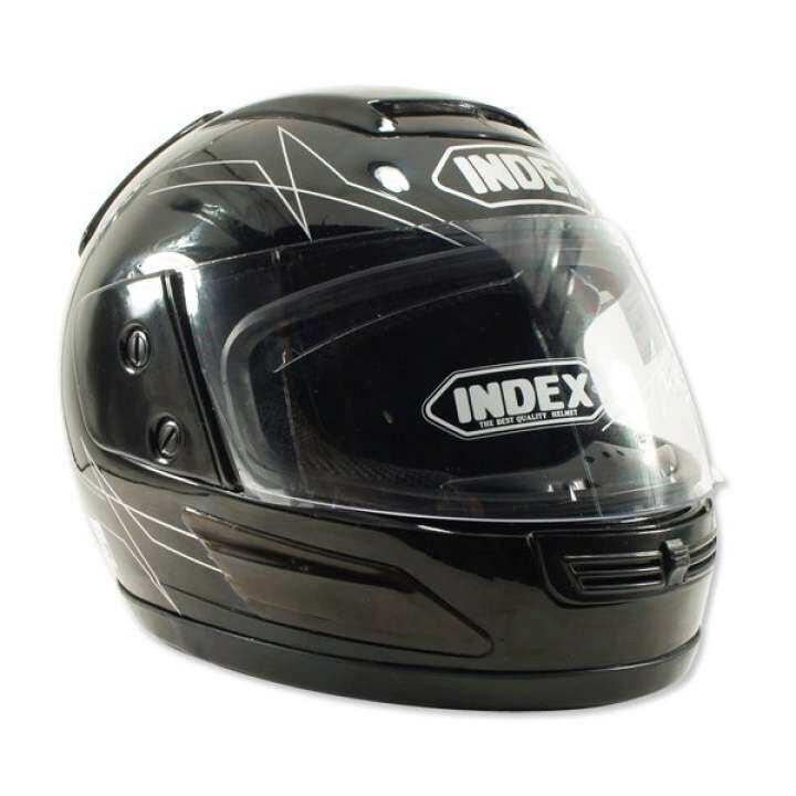 ราคา INDEX หมวกกันน๊อคเต็มใบ รุ่น 811 i-shield หน้ากาก 2 ชั้น (สีดำเงา)