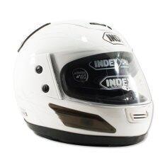 ส่วนลด สินค้า Index หมวกกันน๊อคเต็มใบ รุ่น 811 I Shield หน้ากาก 2 ชั้น สีขาว