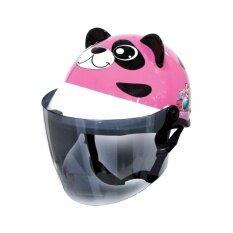 โปรโมชั่น Index หมวกกันน็อคสำหรับเด็ก Index ลิขสิทธิ์แท้ รุ่น หมวกกันน็อค Zoo รูปแพนด้า สีชมพู Panda Pink Index Helmet
