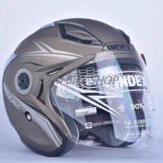 ราคา Index หมวกกันน็อค รุ่น Titan 7 I Shield สีทองด้าน เป็นต้นฉบับ Index