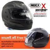 ขาย Index Space Crown หมวกกันน๊อคเต็มใบ รุ่น 811 I Shield หน้ากาก 2 ชั้น สีดำด้าน ฟรี หมวกกันน๊อค รุ่น Vision สีดำด้าน Index เป็นต้นฉบับ
