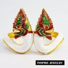 ราคา Inspire Jewelry กำไลพญานาค งานลงยา ตัวเรือนหุ้มทองแท้ 100 24K วัตถุมงคล คำชะโนด ปู่ศรีสุทโธนาคราช นำโชค เสริมดวง และสวยหรู ออนไลน์ กรุงเทพมหานคร