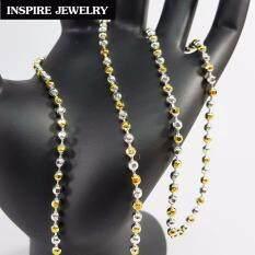 ราคา Inspire Jewelry สร้อยคอเม็ดอิตาลี 2 กษัตริย์ ตัดเหลี่ยม 24 นิ้ว ขนาดเม็ด 5 มิล สวยหรู คงทน งานคุณภาพ พร้อมถุงกำมะหยี่ ราคาถูกที่สุด