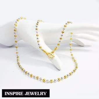 Inspire Jewelry ,สร้อยคอเม็ดอิตาลี 2 กษัตริย์ 24 นิ้ว (ขนาดเม็ด 5 มิล) สวยหรู คงทน งานคุณภาพ พร้อมถุงกำมะหยี่-