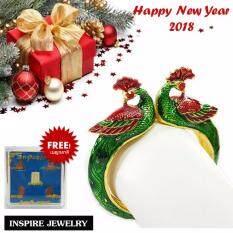 ขาย Inspire Jewelry ของขวัญปีใหม่2018 กำไลนกยูง งานลงยาคุณภาพ ตัวเรือนหุ้มทองแท้ 24K นำโชค เสริมดวง สวยหรู พร้อมกล่องกำมะหยี่หรู ฟรีชุดพระเบญจภาคี Inspire Jewelry ถูก