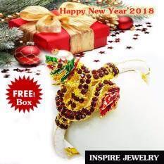 ราคา Inspire Jewelry กำไลพญานาค ชุบทอง ลงยา สรีระสวยงามปานมีชีวิต เครื่องประดับมงคล สำหรับของขวัญ ของฝาก ปีใหม่่2018 วันเกิด พิธีมงคล
