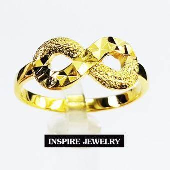 Inspire Jewelry ,แหวนอินฟินิตี้ แบบร้านทองตอกลาย ทำซาติน แปลว่า  ไม่สิ้นสุด  เปรียบเหมือคู่รักที่รักกันยืดยาวไม่มีที่สิ้นสุด หากต้องการเสริมดวงด้านความรัก ตัวเลือกที่ดีสุดๆให้รักของคุณยาวนานตลอดไป เครื่องประดับมงคล ตัวเรือนหุ้มทองแท้ 100% 24K