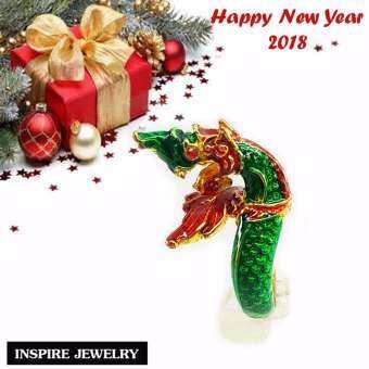 Inspire Jewelry ,แหวนพญานาค งานลงยาคุณภาพ ตัวเรือนหุ้มทอง นำโชค เสริมดวง