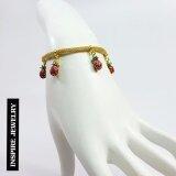 โปรโมชั่น Inspire Jewelry สร้อยข้อมืองานDesign ห้อยผลไม้งานลงยาคุณภาพ สวยหรู หุ้มทองแท้ 100 24K พร้อมถุงกำมะหยี่ ถูก