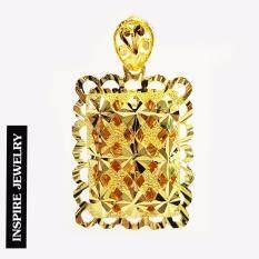 ราคา Inspire Jewelry จี้ทอง ทำลาย Design สวยหรู100 24K พร้อมถุงกำมะหยี่ ออนไลน์ กรุงเทพมหานคร