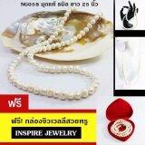 ทบทวน ที่สุด Inspire Jewelry ชุดเซ็ท ต่างหูมุกแท้ พร้อมสร้อยคอมุกแท้ Size 8มิล ยาว 25 นิ้ว พร้อมสร้อยข้อมือ ในกล่องกำมะหยี่สวยหรู มีคุณค่า New Arrival Natural Pearl Best Color สำหรับเป็นขของขวัญ ของฝาก ใส่เอง ปีใหม่