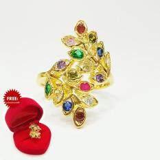 ขาย ซื้อ Inspire Jewelry แหวนช่อมะกอกนพเก้า พรเก้าประการ นำโชค ตัวเรือน หุ้มทองแท้ 100 24K Size8 สวยหรู พร้อมกล่องกำมะหยี่