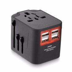 ขาย International Multifunctional 4 Usb Port Travel Charger Adapter Intl Unbranded Generic ถูก